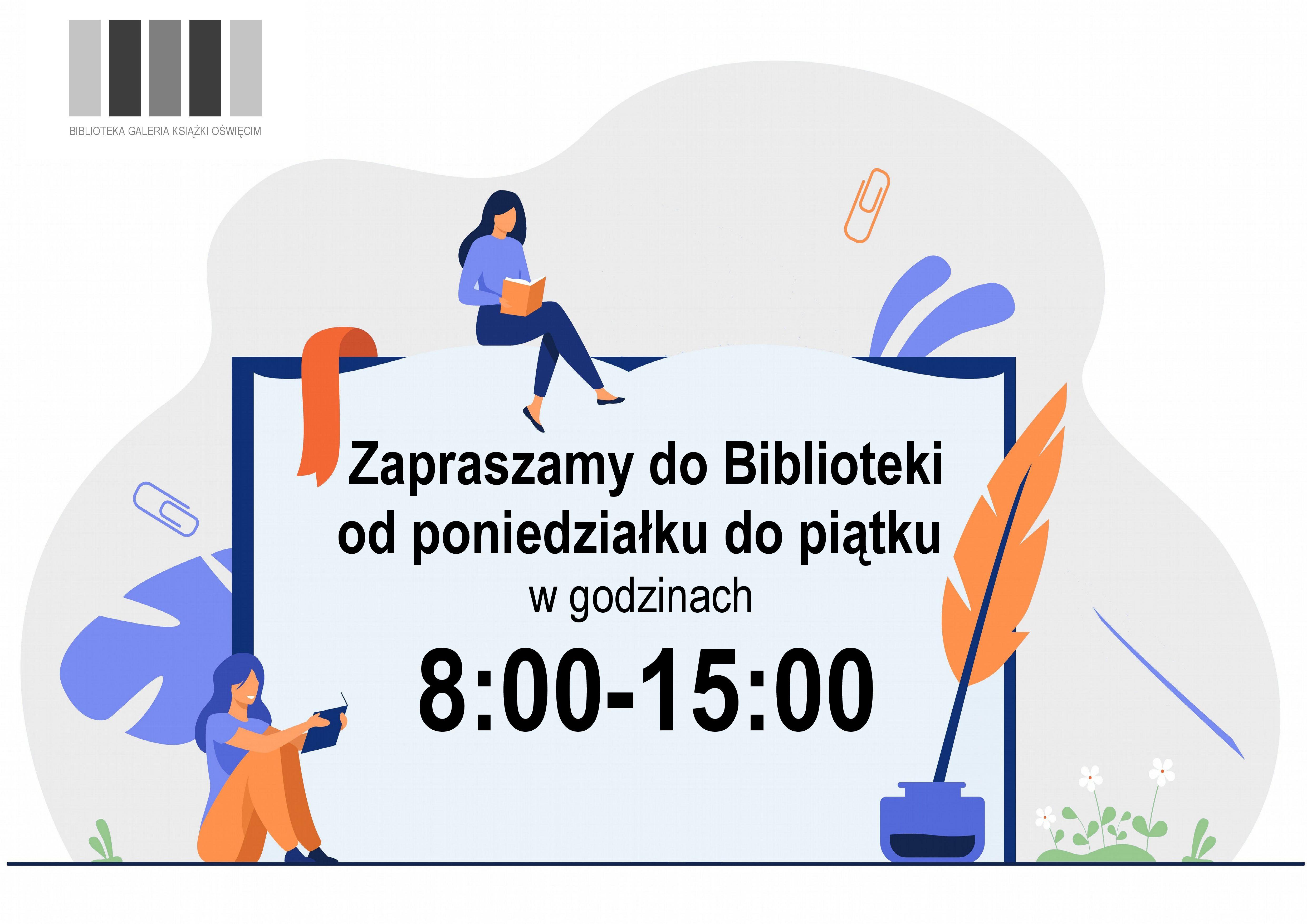 Plakat zmienione godziny otwarcia